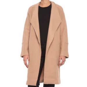 TAHARI Wool Blend Long Coat